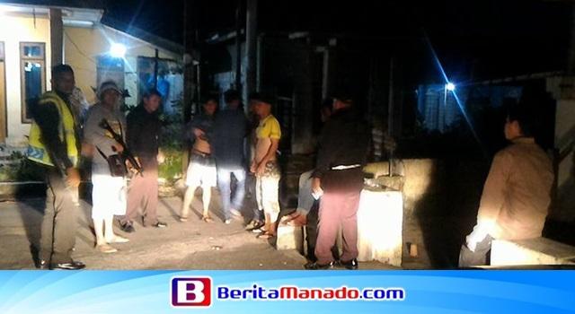 Kegiatan patroli malam Polsek Langowan di Desa Wolaang