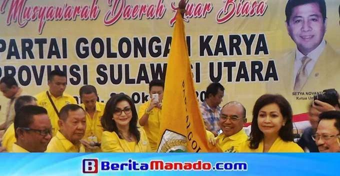Tetty Paruntu, Ketua Partai GOLKAR Sulut