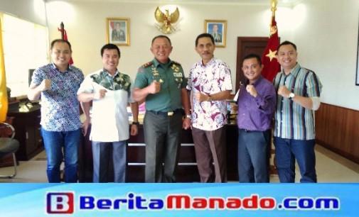 Bertemu Pangdam XIII/Merdeka, KGPM Mantapkan Sinergitas Kemanunggalan TNI-Rakyat