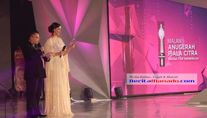 Kezia Warouw bersama Deny Candra diberi kesempatan menjadi pembawa acara FFI di Manado