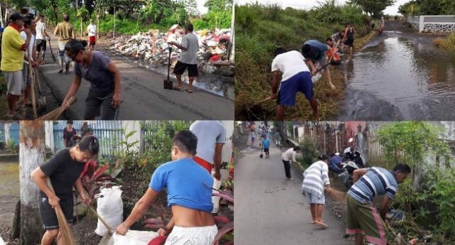 Kerja bakti masyarakat Desa Watutumou II.