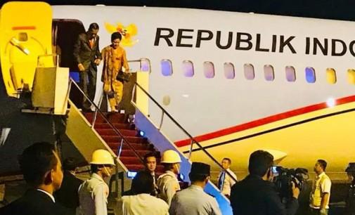 Presiden JOKO WIDODO Tiba di Bandara Sam Ratulangi Manado