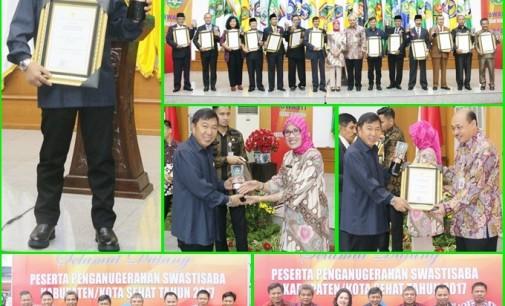 Bupati JAMES SUMENDAP Bawa Mitra Raih Penghargaan Kabupaten Sehat