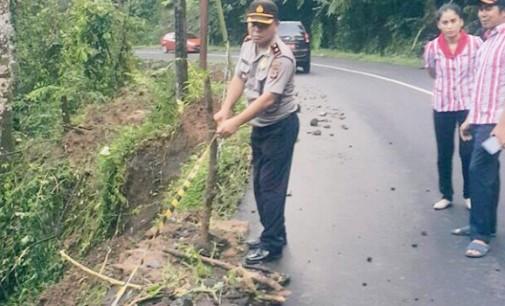 Kompol SAMMY PANDELAKI Imbau Pengguna Jalan Pangu-Noongan Waspada