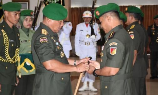 Kolonel Inf Robert Giri Jabat Danrem 131/Santiago, Mayjen TNI Ganip Warsito Sebut Wilayah Berkarakteristik Unik