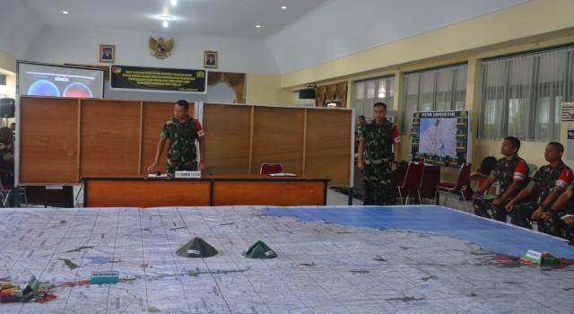 Posko siaga bencana di Korem 131/Santiago berdasarkan peta geografis