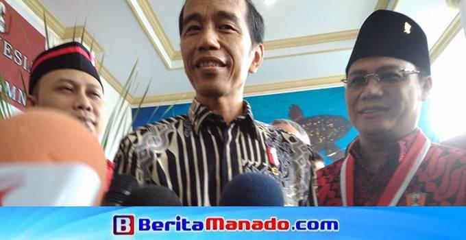 Presiden Jokowi saat berada Grha Gubernuran Sulawesi Utara