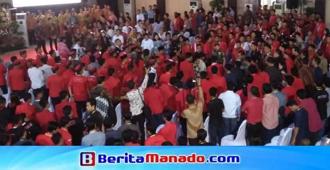 Presiden Jokowi tiba di Grha Gubernuran