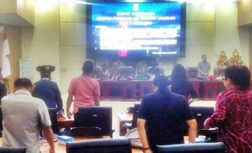 DPRD Manado Gelar Rapat Paripurna Mendengarkan Penjelasan Wali Kota Tentang Pinjaman ke PT SMI