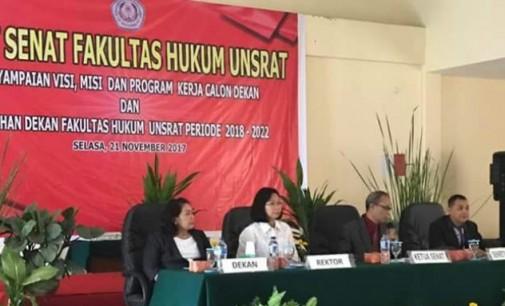 FLORA KALALO terpilih Dekan Fakultas Hukum Unsrat
