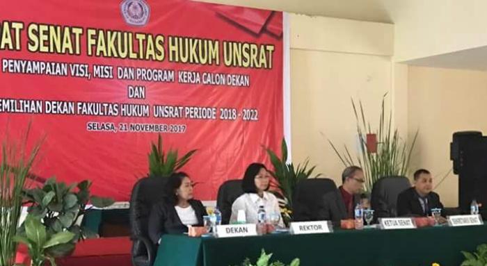 Rapat Senat Fakultas Hukum, Unsrat