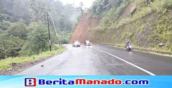 Ruas jalan gunung potong Mitra