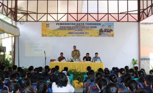 Ratusan Pelajar di Tomohon Ikut Penyuluhan Hukum Terpadu Sitahu