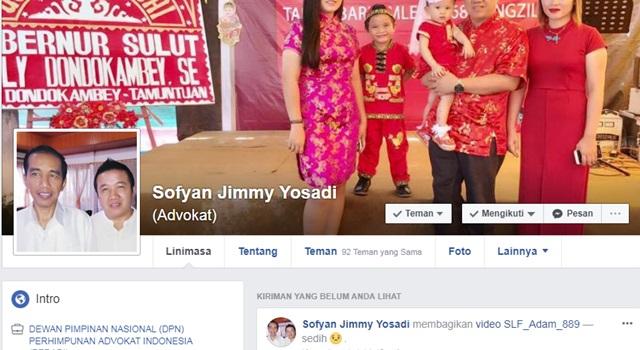 Akun Facebook Sofyan Jimmy Yosadi