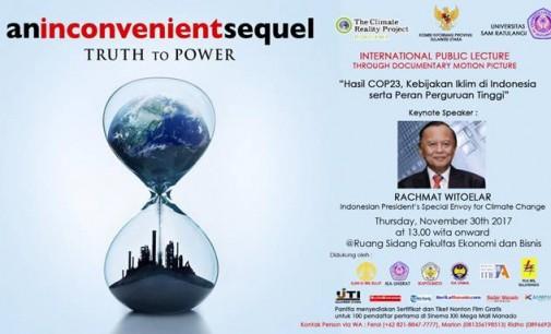 Hari Ini, The Climate Reality Project Indonesia Gelar Kuliah Umum dan Pemutaran Film