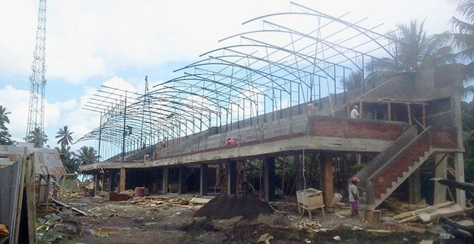 Pembangunan Tribun Lapangan Ompi Ratahan