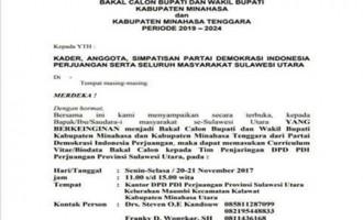 PDIP Resmi Buka Pendaftaran Bakal Calon Bupati dan Wakil Bupati Mitra