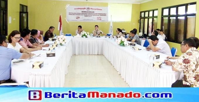 Sosialisasi penyerahan syarat dukungan pasangan calon perseorangan pada Pilkada Mitra