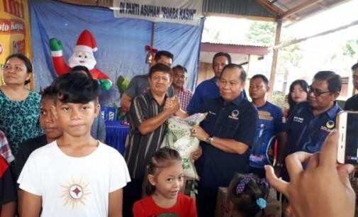 Jelang Natal, NasDem Bitung Berbagi dengan Anak Yatim Piatu