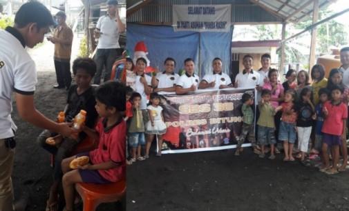 Jelang Natal, SBS Angkatan 38 Bitung Berbagi dengan Anak Panti
