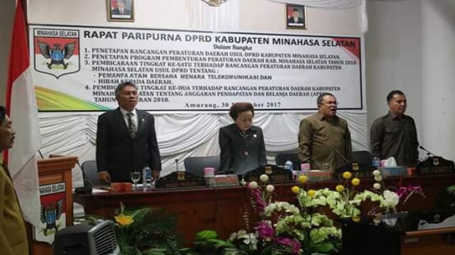 Rapat Paripurna DPRD Minsel