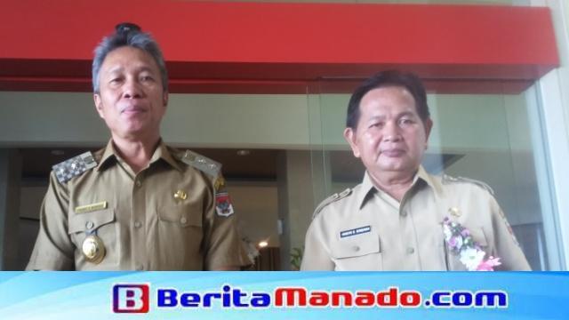 Wabup Franky Donny Wongkar SH Bersama Asisten I Drs Handrie Sondakh