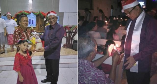 Wabup Ir Joppi Lengkong berbagi kasih dengan masyarakat.
