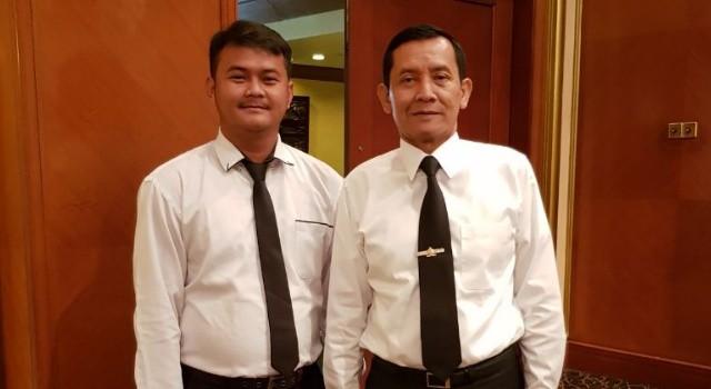 Kabaintelkam Polri Komjen Pol Drs Lutfi Lubihanto MM bersama Kasat Intel Polres Minut Iptu Boyke Rawung SIK.