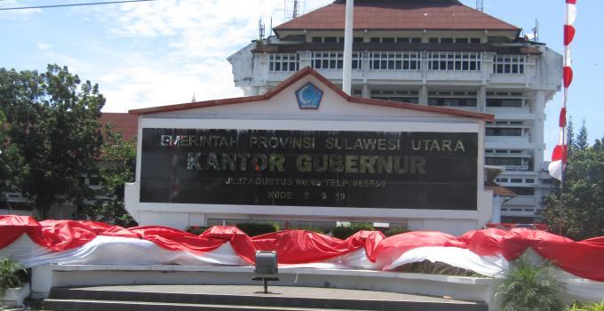 Kantor Gubernur Sulut di Jalan 17 Agustus