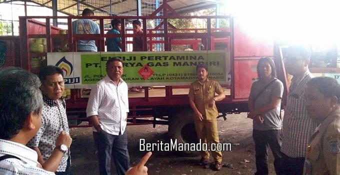 Komisi B DPRD Kota Manado turun lapangan (turlap) di beberapa pangkalan gas elpiji