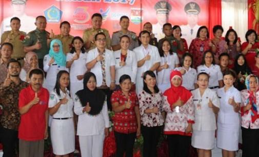 HKN ke-53, OLLY DONDOKAMBEY Membacakan Sambutan Menteri Kesehatan di Minahasa Tenggara