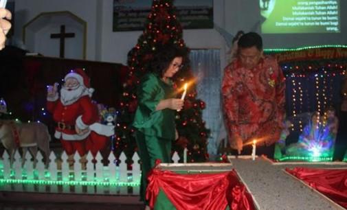 Ibadah Natal di GMIM Ebenhaezer Watutumou, OLLY DONDOKAMBEY Bicara Jalan Tol dan Waduk Kuwil