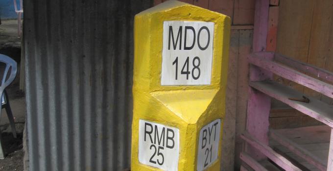 pal Kilometer di Jalan Pasar Belang