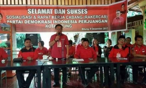 Jelang Pemilu 2019, PDIP Bitung Rapatkan Barisan