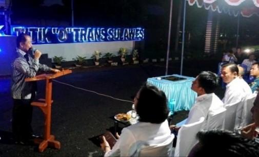 Zero Point Trans-Sulawesi Ada di Bitung