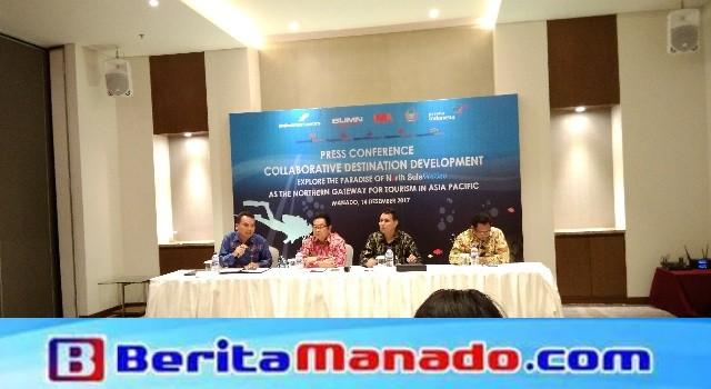 Jumpa pers oleh pihak Angkasa Pura dan pemerintah provinsi Sulut dan kota Manado