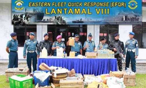 Danlantamal VIII Pimpin Pemusnahan 1700 Liter Cap Tikus