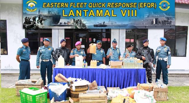 Pemusnahan 1700 liter Cap Tikus di Mako Lantamal VIII
