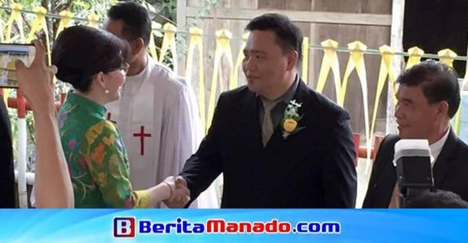 Christiany Eugenia Paruntu saat menyalami Sekretaris Umum PP KGPM Gbl Francky Londah