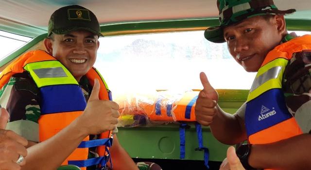Uji coba speedboat pertama di Kodim 1312/Talaud