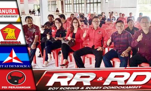 PDIP Minahasa Rapatkan Barisan Menangkan Royke Roring-Robby Dondokambey