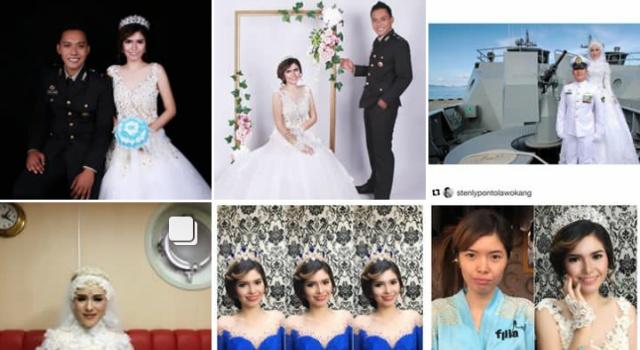 Beberapa unggahan di akun Instagram Filia Bridal