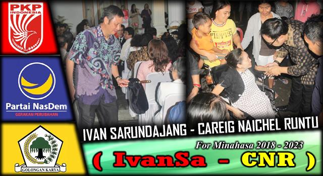 Ivan Sarundajang dan Careig Naichel Runtu. (Foto:IST)