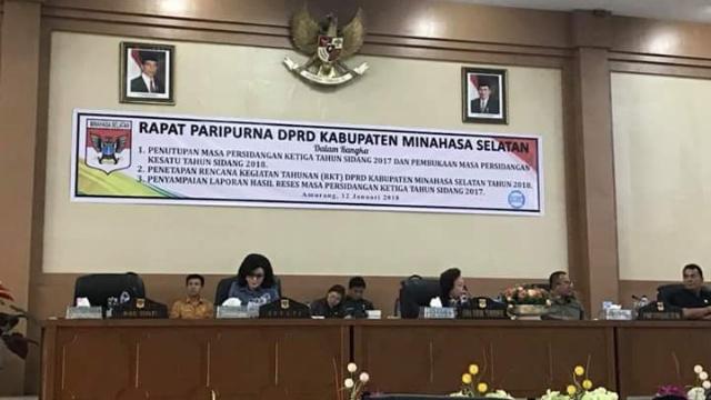 Rapat Paripurna Perdana DPRD Minsel