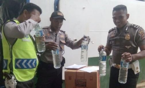 Polres Minut Gagalkan Penyelundupan Ratusan Liter Cap Tikus ke Talaud
