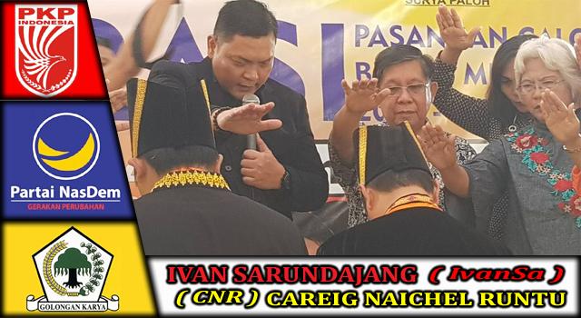 IvanSa-CNR didoakan pada acara deklarasi pasangan calon