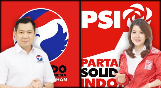 Ketua Umum Partai Perindo Hary Tanoesoedibjo dan Ketua Umum PSI Grace Natalie