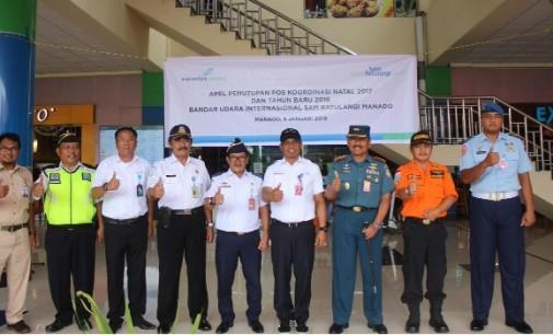 Posko Nataru Bandara Sam Ratulangi Manado Resmi Ditutup, Pergerakan Penumpang Naik 3 Persen