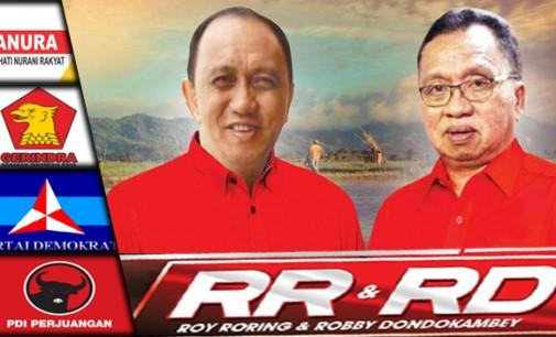 Hari Ini ROYKE RORING-ROBBY DONDOKAMBEY Kampanye Terbuka di Langowan
