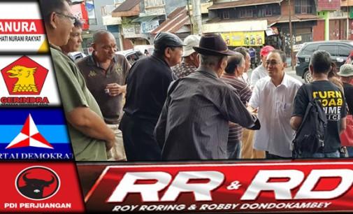 ROY RORING Temui Warga Kawangkoan